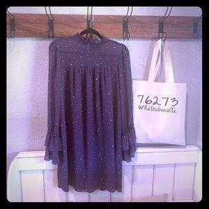 Kaari Blue Long Purple Blouse